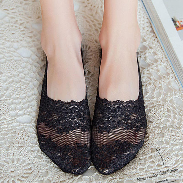 10 pairs lace mesh invisible socks