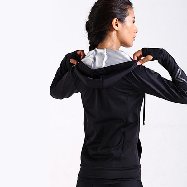 Long sleeve drawstring track jackets