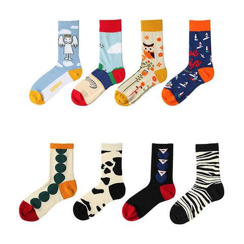5 pairs cartoon print ankle socks
