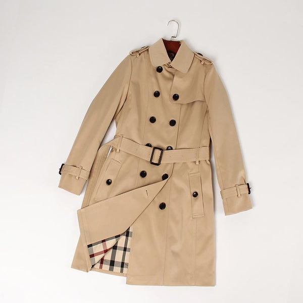 Classic trench coats with belt - Fancyever