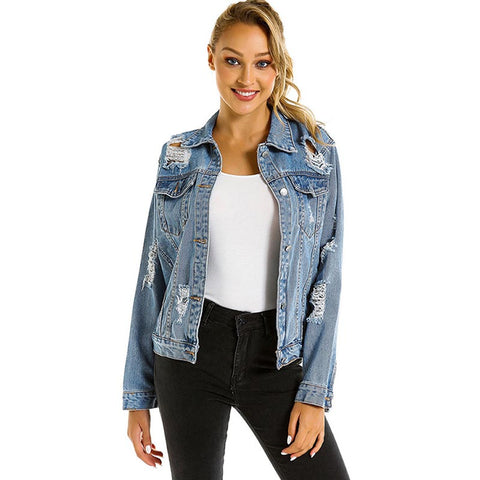 Ripped denim jackets - Fancyever