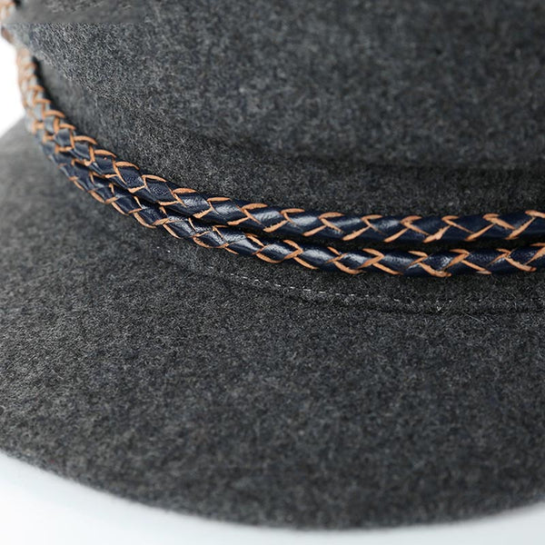 Beaded thick captain hats - Fancyever