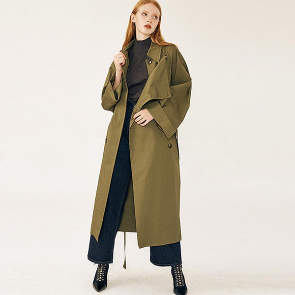 Lapel double breasted trench coats