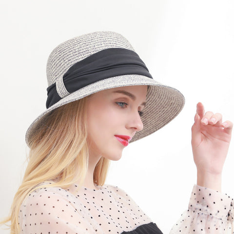 Summer straw wide foldable brim hats