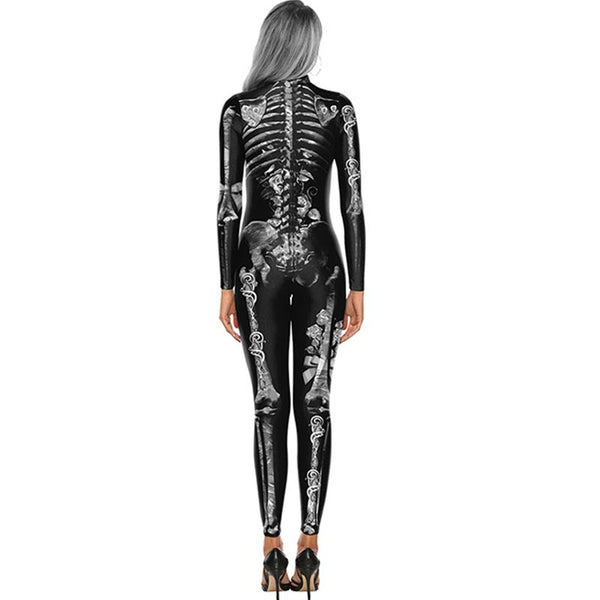 Halloween cosplay print long sleeve jumpsuits - Fancyever