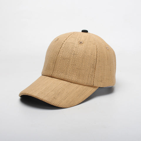 Summer textured solid baseball hats