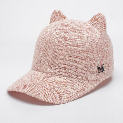 Summer cute ears baseball hats
