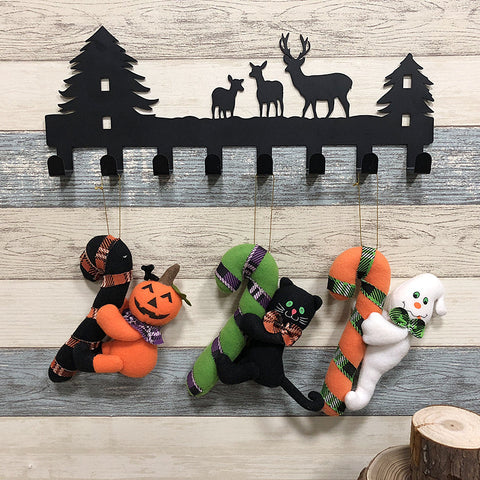 Halloween ghost pumpkin black cat doll ornaments - Fancyever