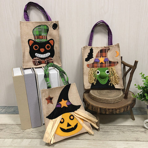 Halloween witch black cat pumpkin gift bags - Fancyever