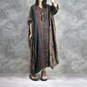 Plus size silk patchwork dresses - Fancyever