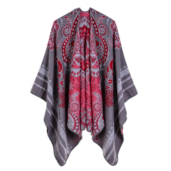 Oversized print thick shawls scarves - Fancyever
