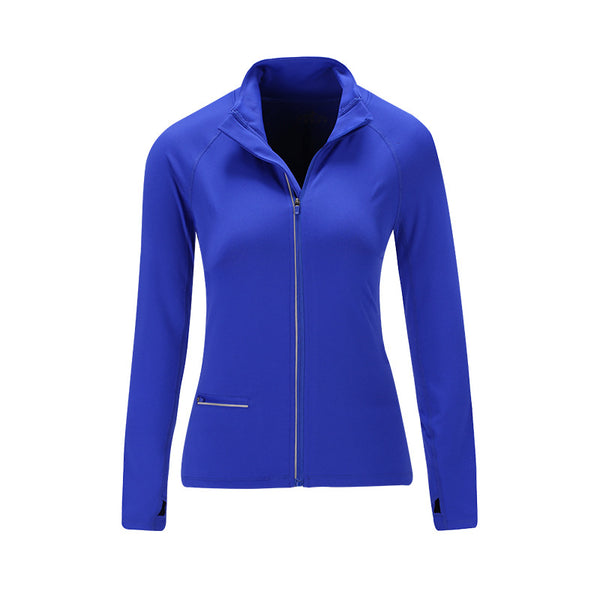 Mock neck full zip run outdoor sport jackets