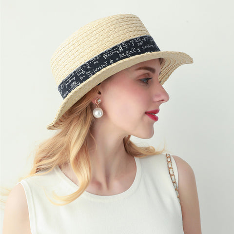 Elegant boater hats beach hats