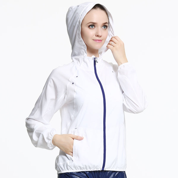 Hooded light wear run outdoor sport jackets - Fancyever