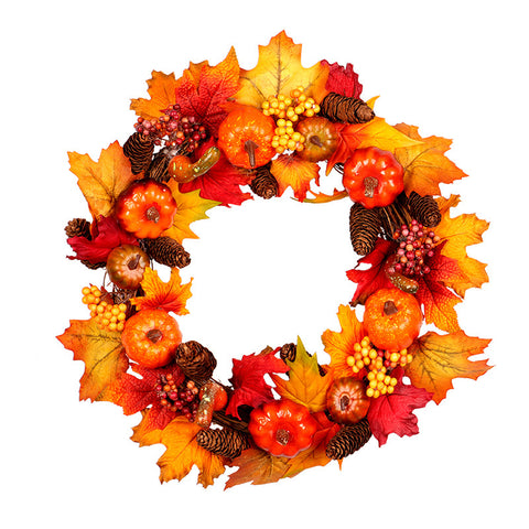 Halloween artificial fall wreath