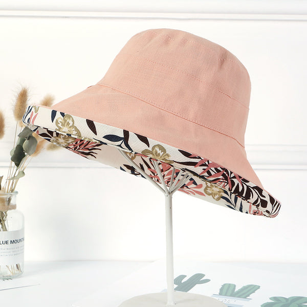 Print foldable reversible bucket hats