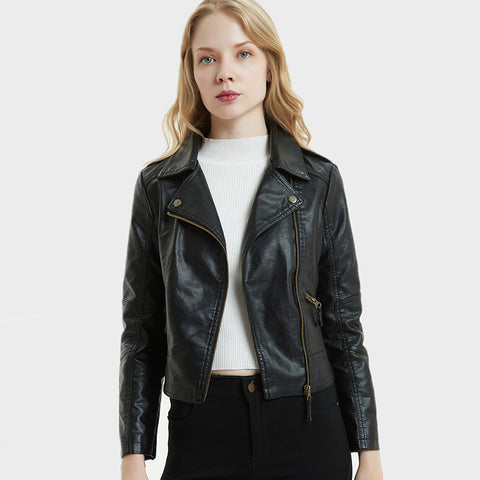 Faux zipper moto biker jackets - Fancyever