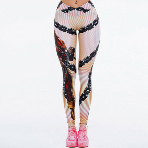 Print elastic breathable yoga pants