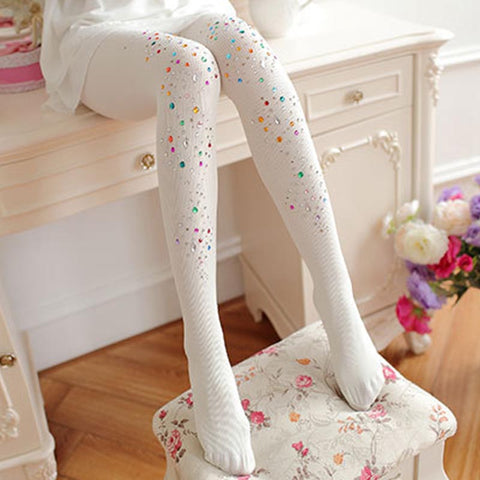2 pairs beaded pantyhoses