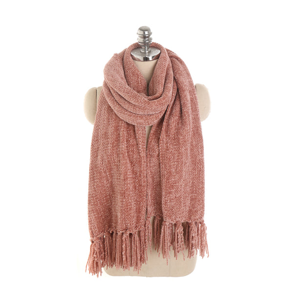Pure color tassel scarves - Fancyever