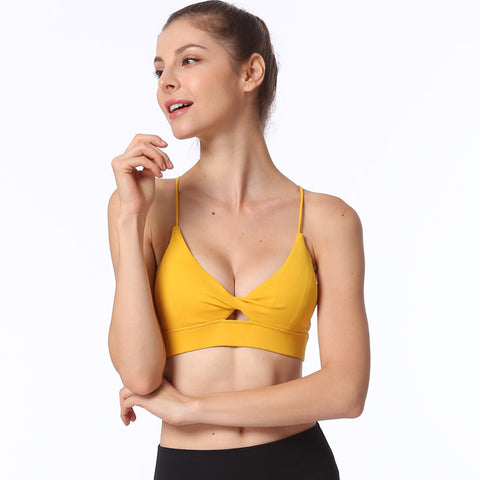 Openwork patchwork sports bras