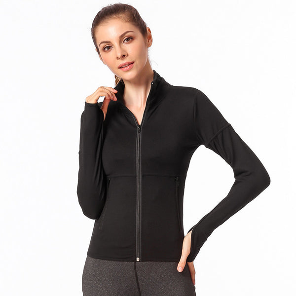 Zip-up running yoga sport jackets - Fancyever
