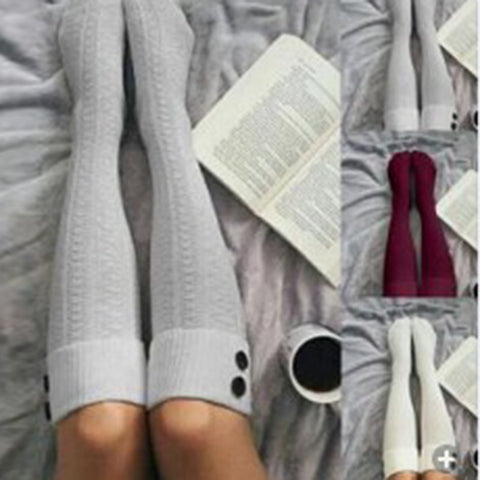 3 pairs knee high knit stockings