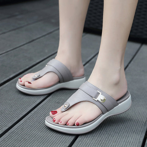 Soft metal beach slippers