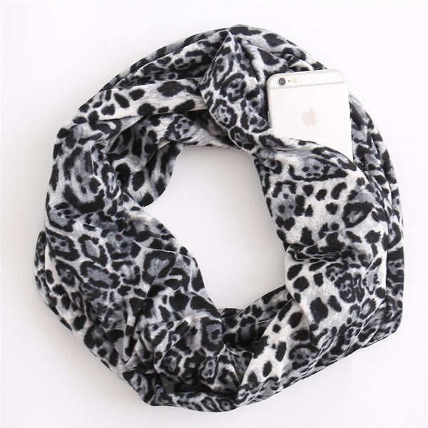 Animal print faux cashmere scarves