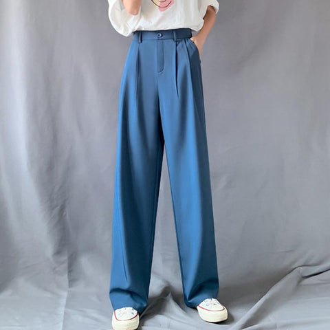 High waisted ruched wide leg pants