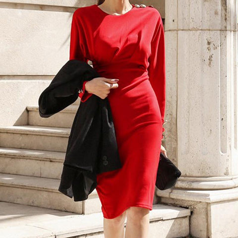 Office solid shift dresses