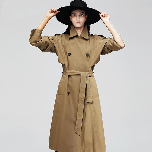 Trench coats with belt