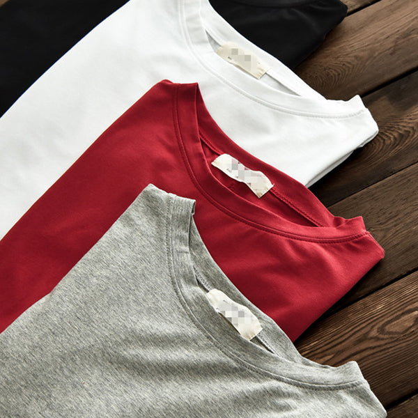Pure color asymmetric tees - Fancyever