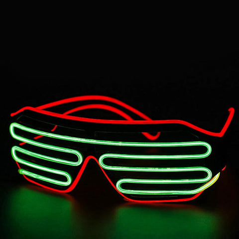 Halloween shutter glasses with led light