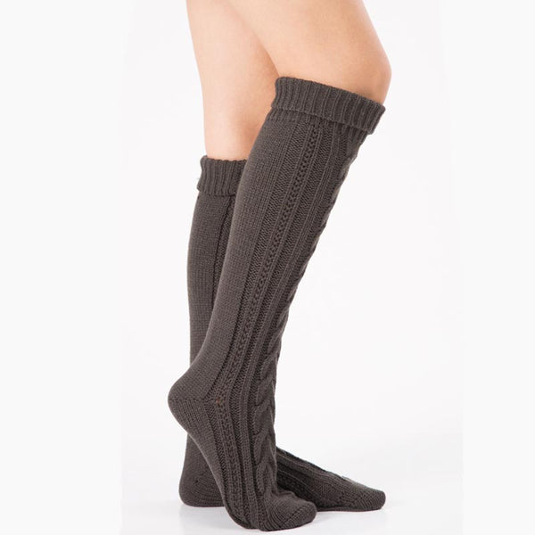 3 pairs thick knit thigh high boot socks