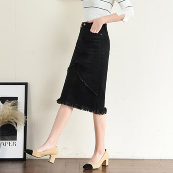 Plus size rough selvage skirts