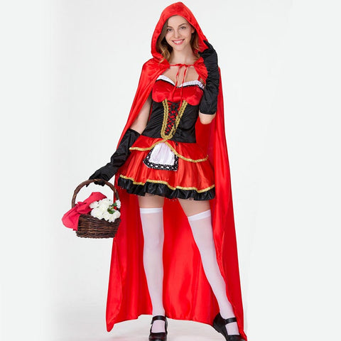 Halloween deluxe red riding hood costumes