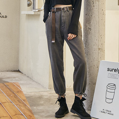 Cargo pants with belt - Fancyever
