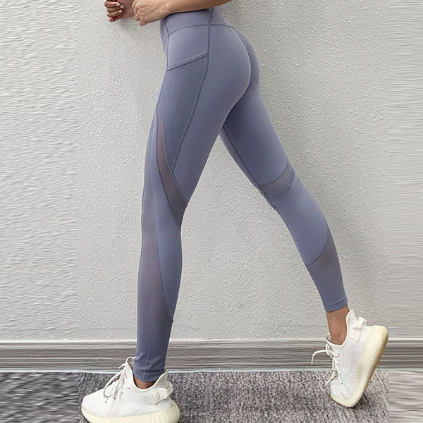 Perspective mesh ultra-stretchy active pants
