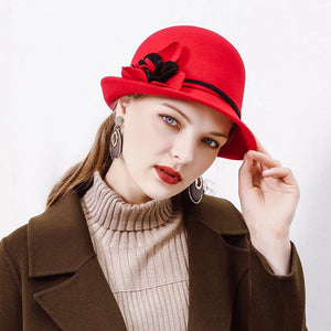 Color-blocked wool bowler hats - Fancyever