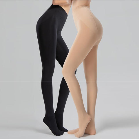 High waisted elastic pantyhoses