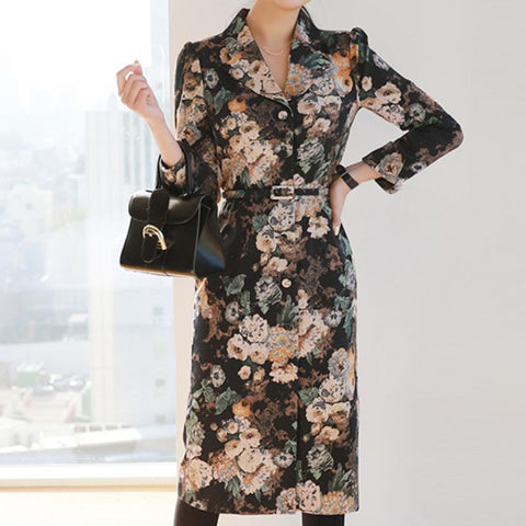 Vintage floral blazer shift dresses