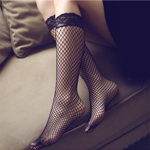 10 pairs fishnet knee length stockings