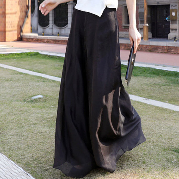 Black wide leg pants - Fancyever