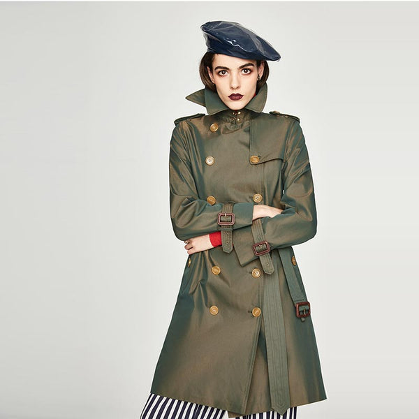 Double breasted trench coats