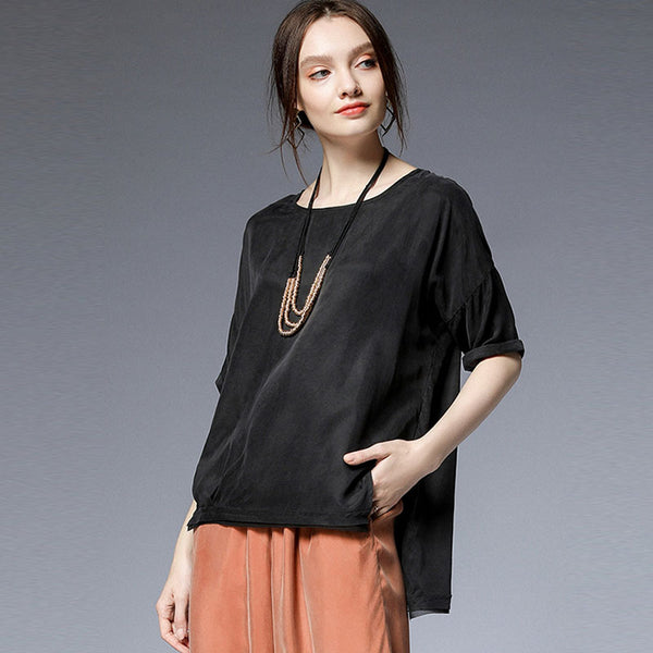 Plus size blouse with necklace - Fancyever