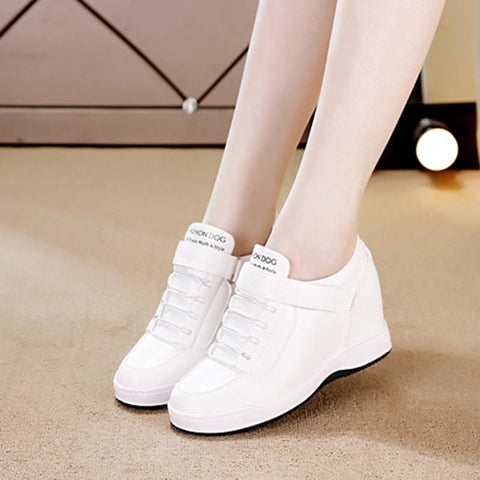Velcro breathable platform sneakers