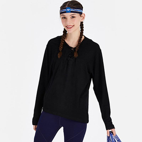 Cross over lacing sportswear tops - Fancyever