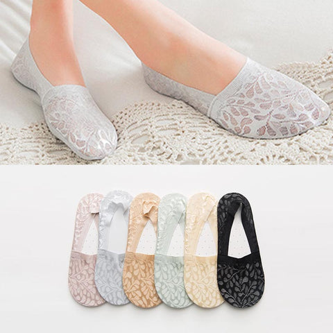 10 pairs lace patchwork liner socks