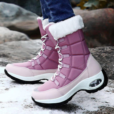 Cold resistant waterproof air cushion snow boots